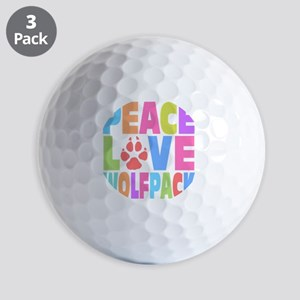 Peace Wolf Pack Golf Balls