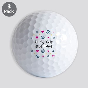 All My Kids Have Paws Golf Balls