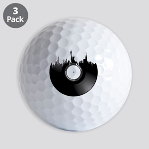 New York City Vinyl Record Golf Balls