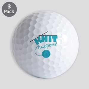 3-Knithappensedit Golf Balls