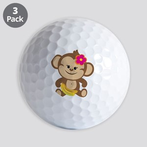 Girl Monkey Golf Balls