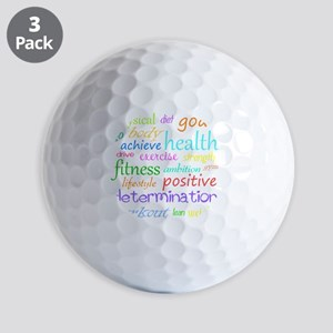 fitness words Golf Balls