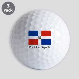 Dominican Republic Flag Design Golf Balls