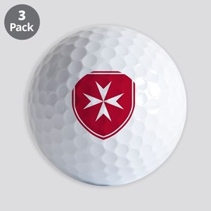 Cross of Malta - Red Shield Golf Balls