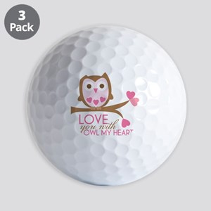 owlmyheart copy Golf Balls