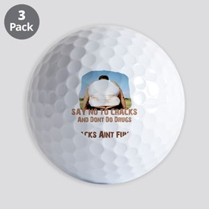Butt Crack Message Golf Balls