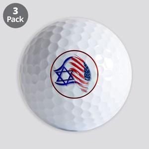 Stand With Isreal Circle Trans- Golf Balls
