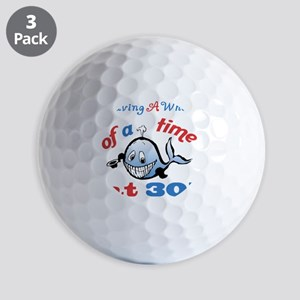 30th Birthday Humor (Whale) Golf Balls