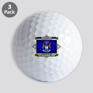 Michigan diamond Golf Balls