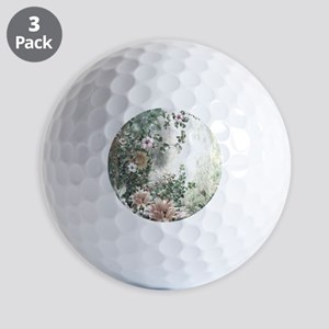 Flowers Painting Golf Ball