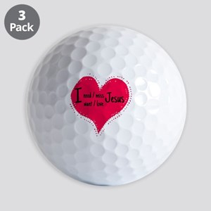 I love you Golf Ball