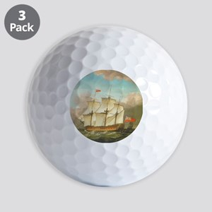 HMS Victory by Monamy Swaine Golf Balls