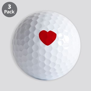 I Heart San Diego White Text Golf Balls