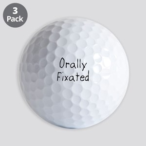 Orally Fixated Golf Balls