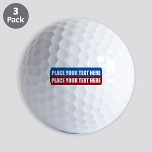 America Text Message Golf Balls