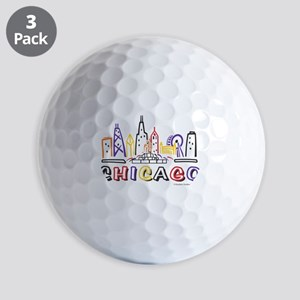 Chicago Fun Skyline Golf Ball