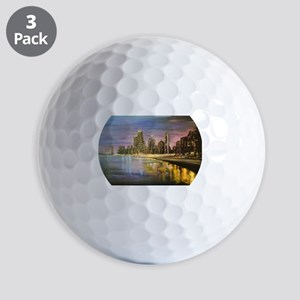 Chicago by Night Golf Ball