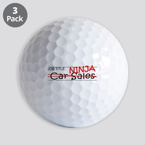 Job Ninja Car Sales Golf Balls