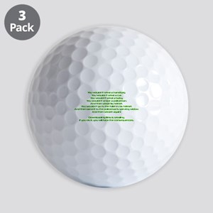 PSA Advert Golf Balls