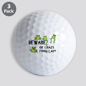 Beware of Crazy Frog Lady Golf Balls