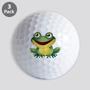 Green Cartoon Frog-4 Golf Ball