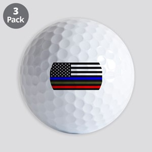 Thin Blue Line - USA Flag Red, Blue and Golf Balls