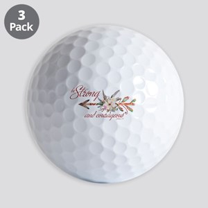 Strong and courageous Golf Balls