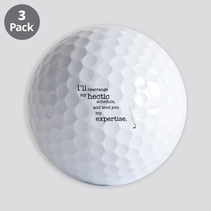Hectic schedule Golf Balls