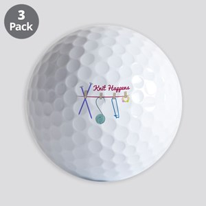 Knit Happens Golf Ball