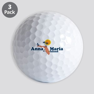 Anna Maria Island - Map Design. Golf Balls