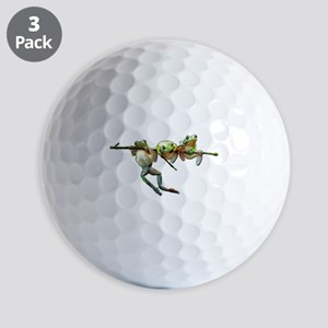 Hang in There Froggies Golf Balls