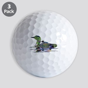 Colorful Loon Golf Balls