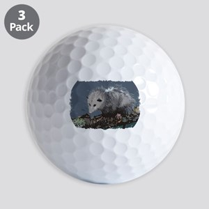 Opossum on a Gnarley Branch Golf Balls