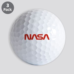 NASA Worm Logo Golf Balls