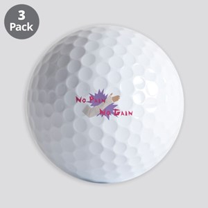No Pain No Gain Golf Ball
