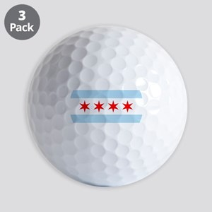 Chicago Flag Golf Ball