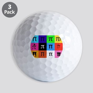 colorblock happy pi day Golf Balls