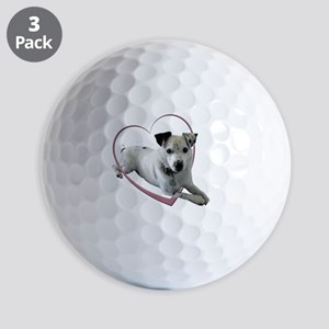 Love Jack Russell Dog Golf Balls