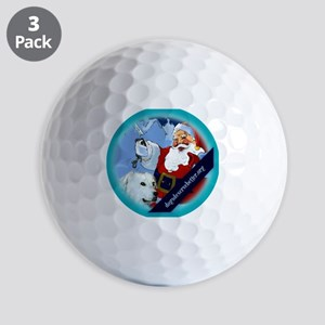 Santa Unchains Dog Golf Balls
