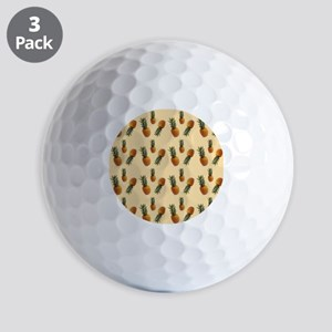cute pineapple pattern Golf Balls