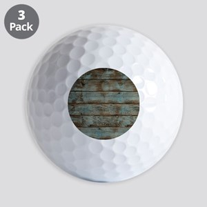 rustic western turquoise barn wood Golf Balls