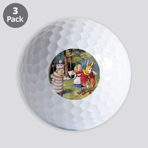 Alice THE WHITE KING_SQ Golf Balls