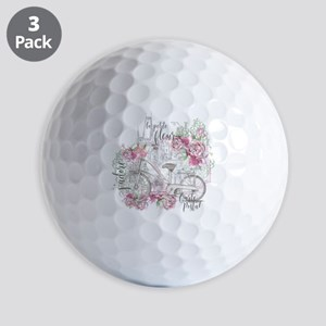 Shabby Chic Bicycle Peony Golf Balls