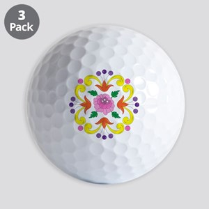 Colorful Floral Golf Balls