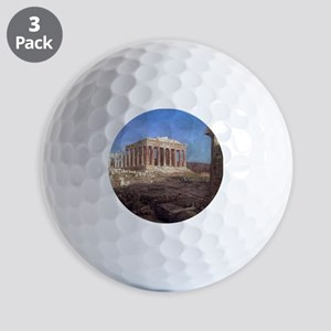 Frederic Edwin Church The Parthenon Golf Balls