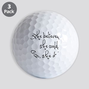 She Believed She Could Golf Balls