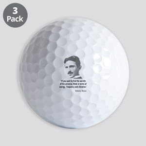 Quote By Nikola Tesla Golf Balls