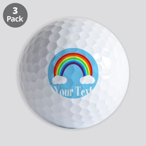 Personalizable Rainbow Golf Ball