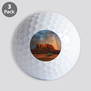 Rainbow In Grand Canyon Golf Balls
