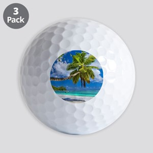 Tropical Beach Golf Balls